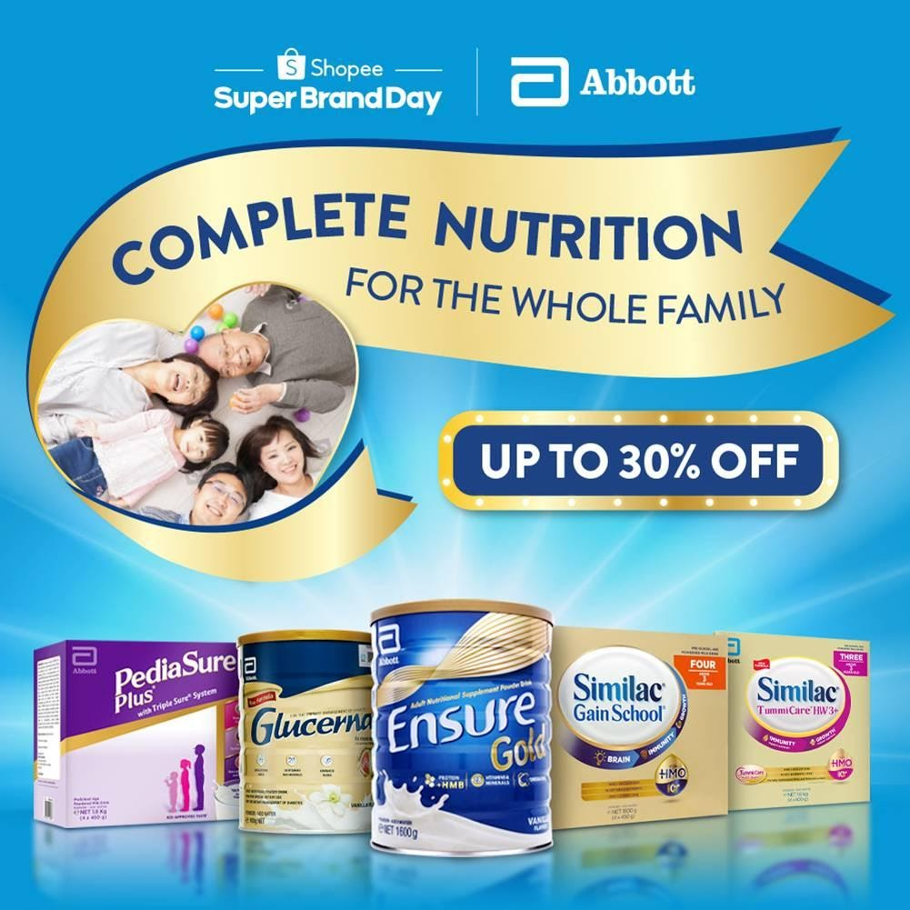 Abbott and Shopee celebrate Family Nutrition Day by encouraging families to eat right and live healthy
