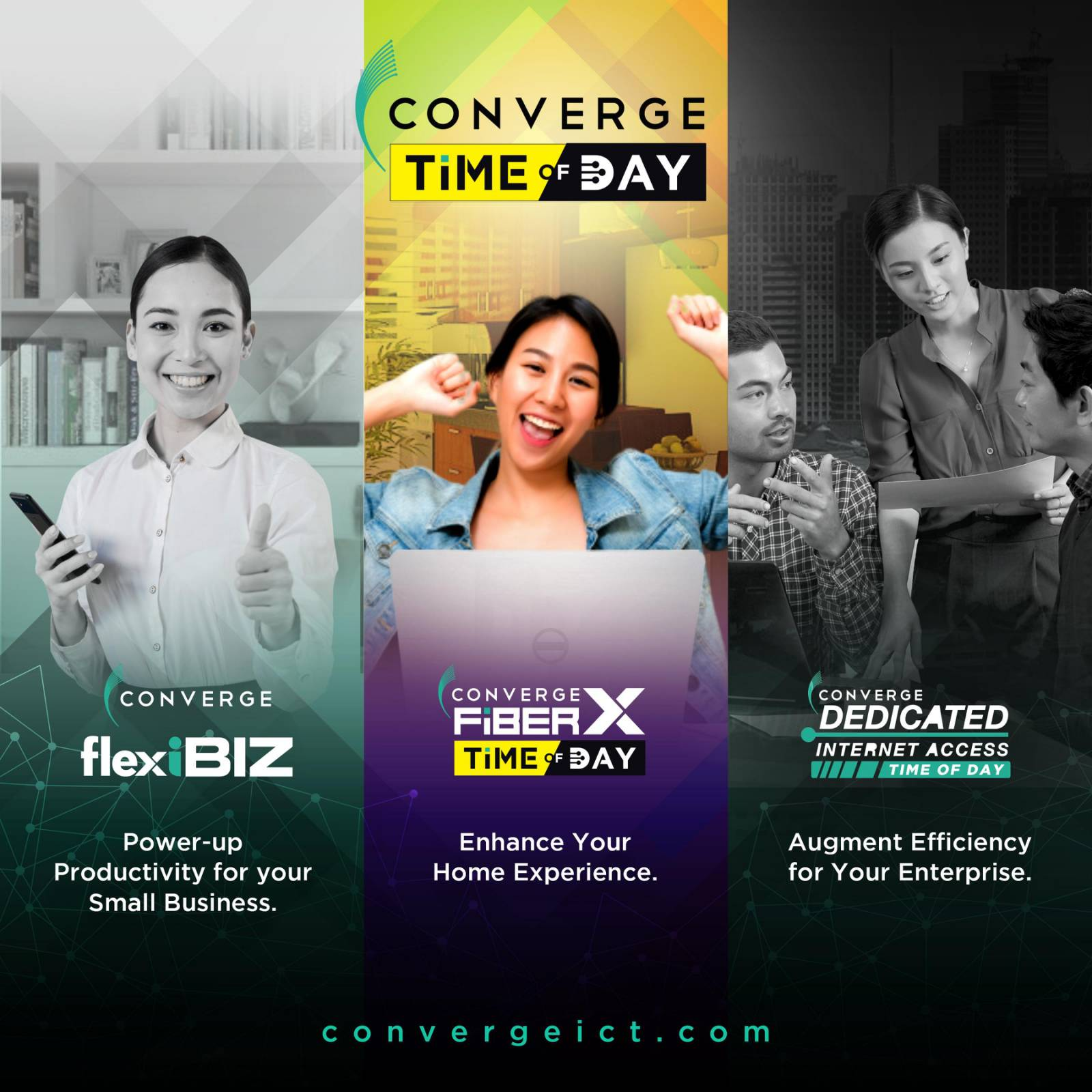 Converge ICT Time of Day provides customizable internet plans for both businesses & residential customers