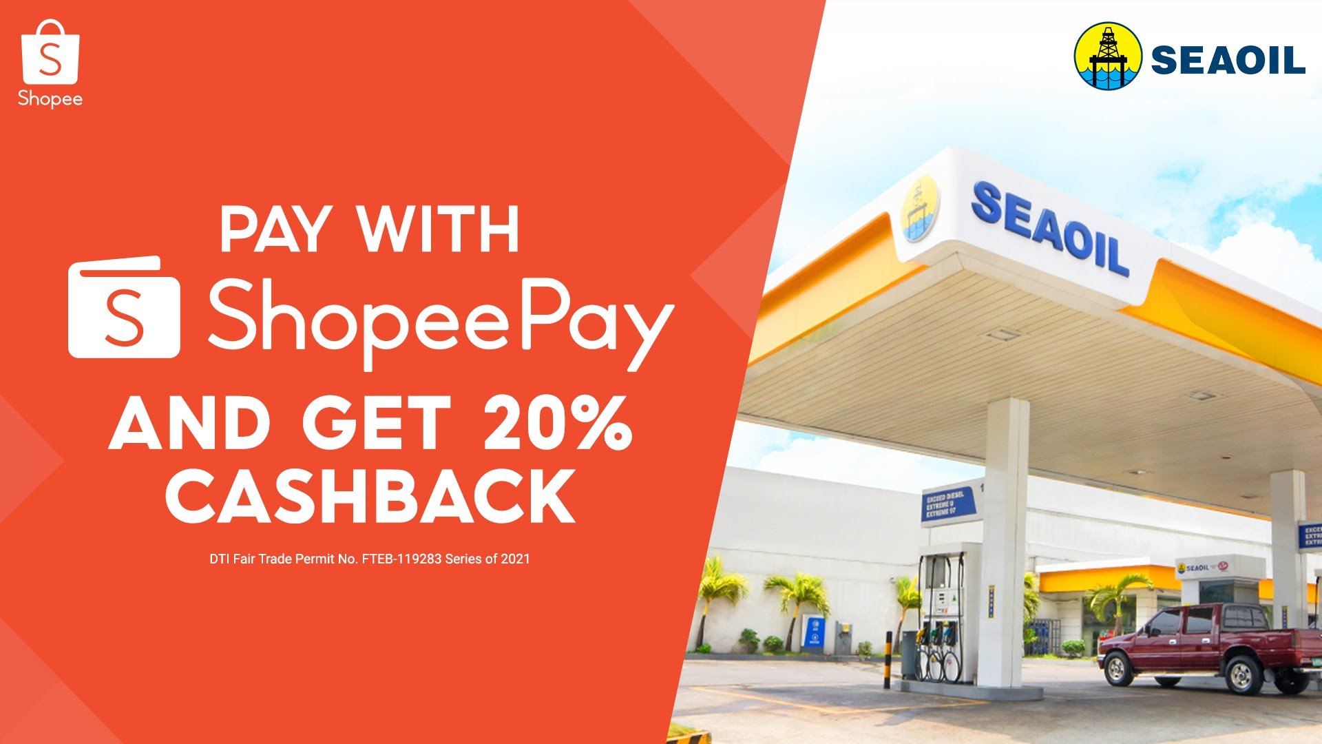 You can now pay with ShopeePay at SEAOIL