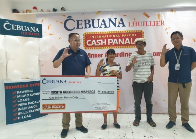 Cebuana Lhuillier International Payout Cash Panalo Promo concludes with senior citizen taking home P1M grand prize
