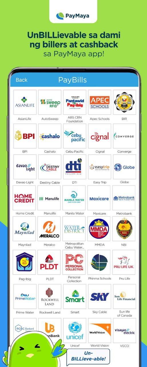 PayMaya expands its widest bills payment offering