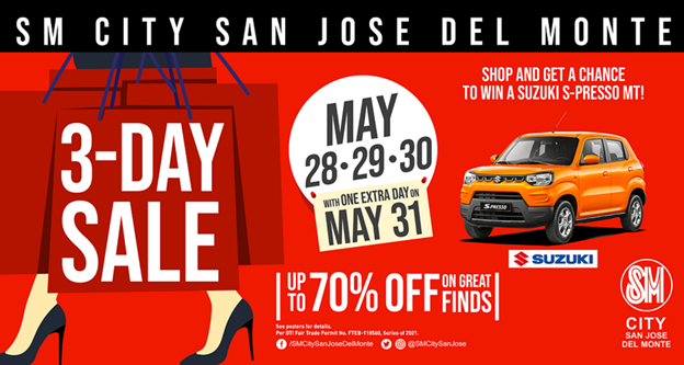 SM City San Jose del Monte 3-Day Sale - May 28-31