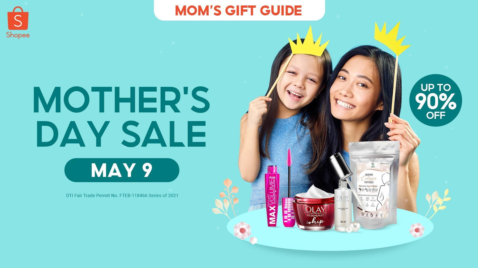 Pamper mom like the queen she is with makeup, skincare, and other goodies at Shopee's Mother's Day Sale