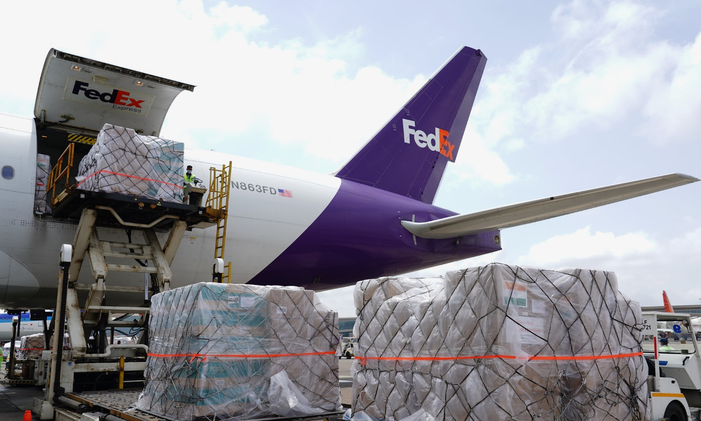 FedEx extends support, donates third dedicated charter flight carrying critical COVID-19 aid to India