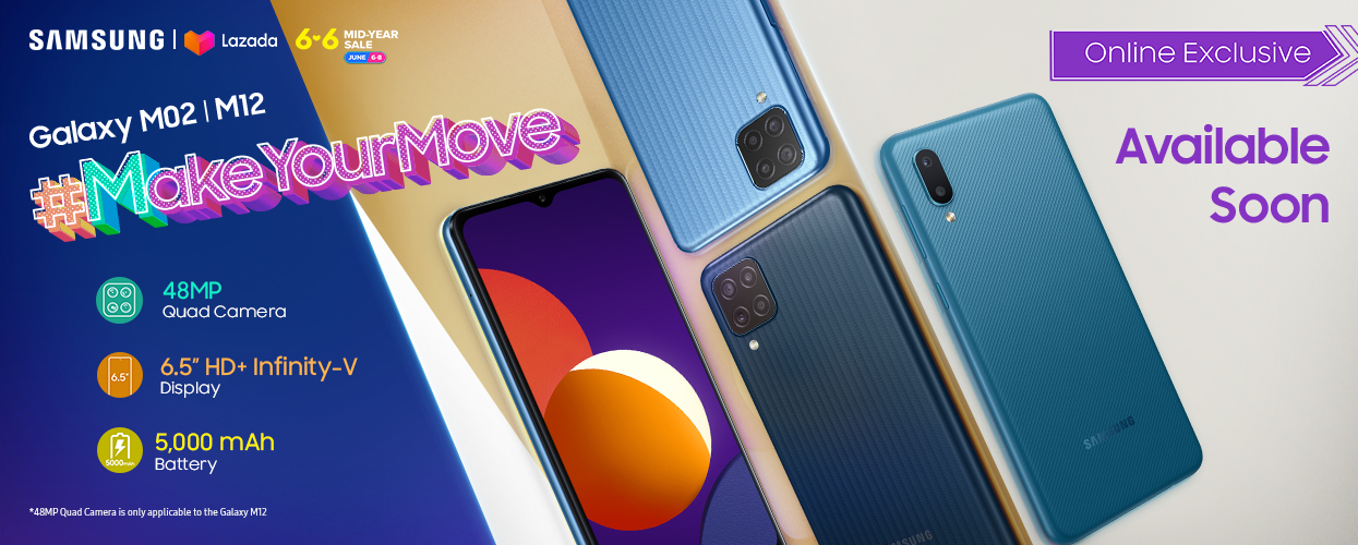 #MakeYourMove with the SAMSUNG Galaxy M12, exclusively available on Lazada 6.6 Mid-Year Sale!