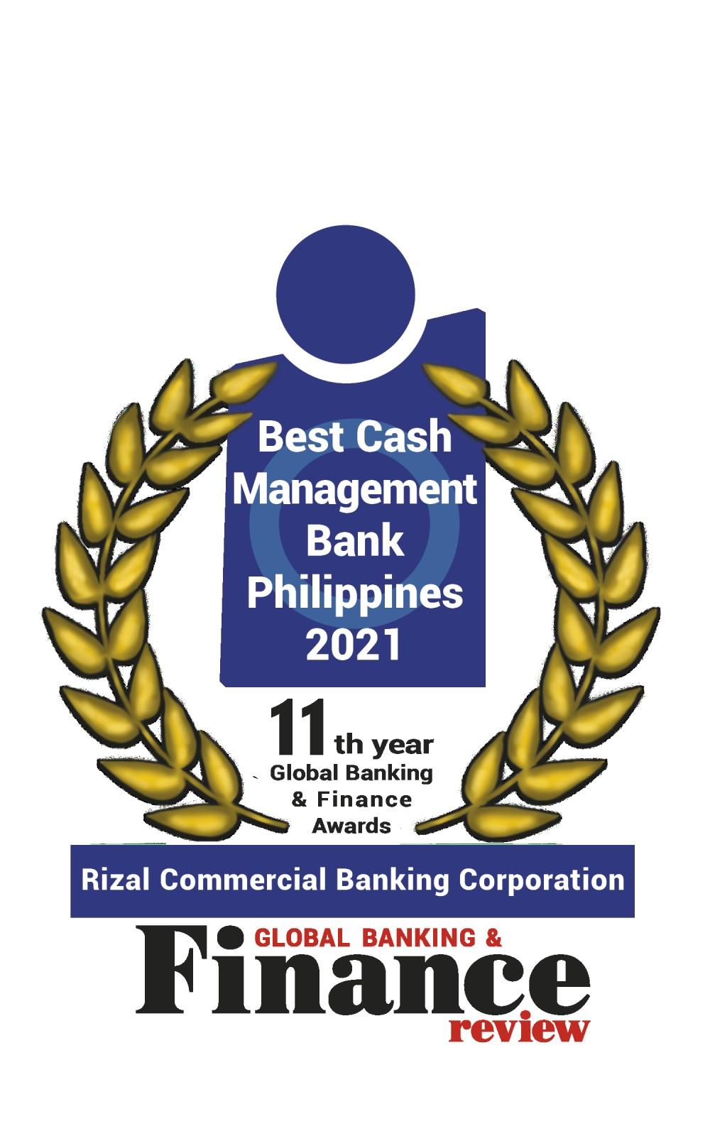RCBC named Best Cash Management Bank at GBAF 2021