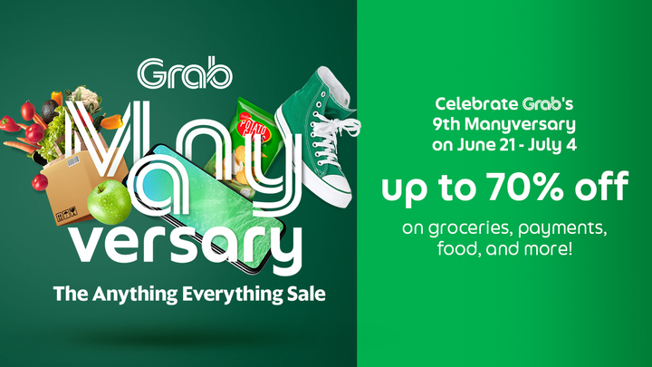 Grab celebrates 9 years with Manyversary: The Anything and Everything Sale, and you're invited!