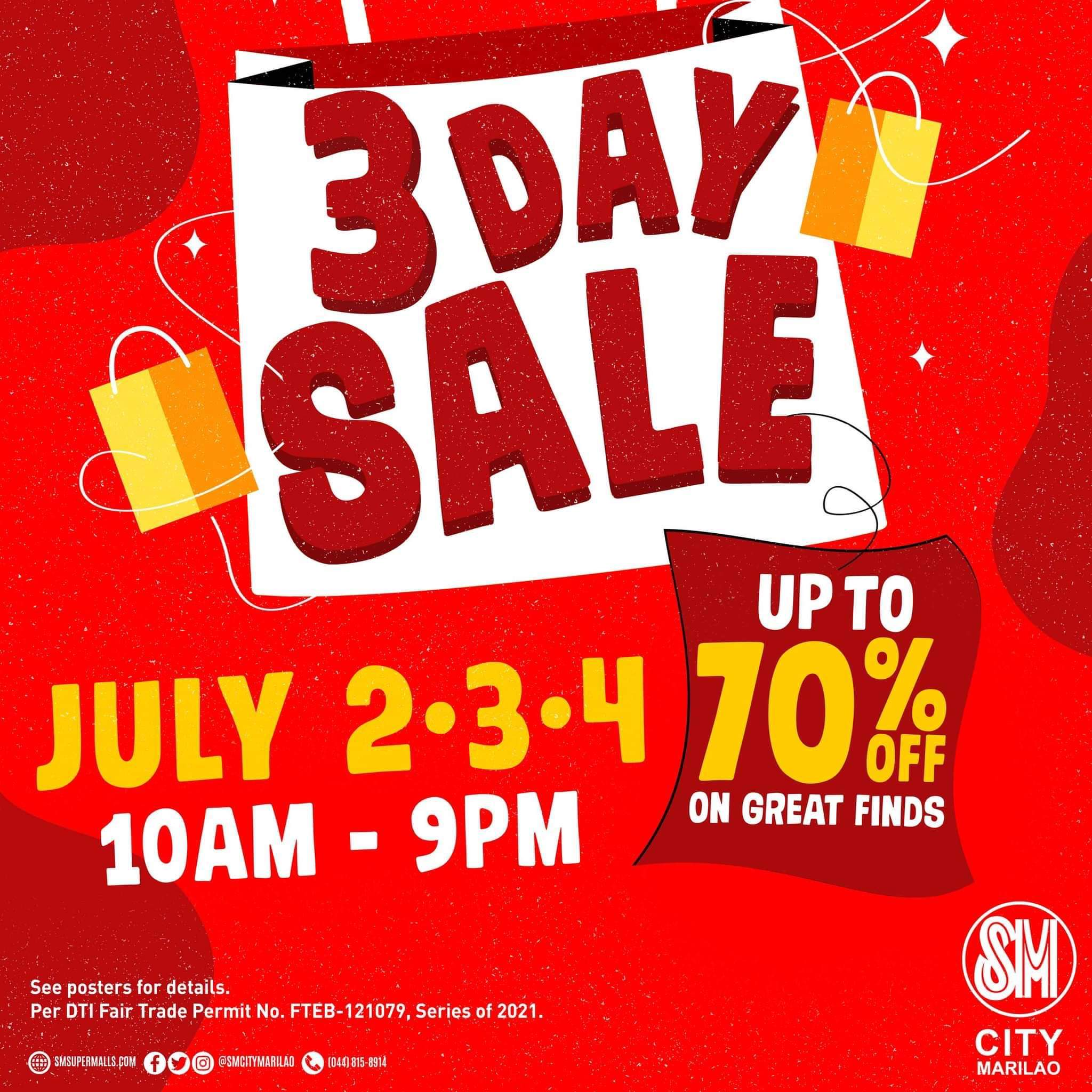 SM City Marilao rolls out 3-day mid-year sale