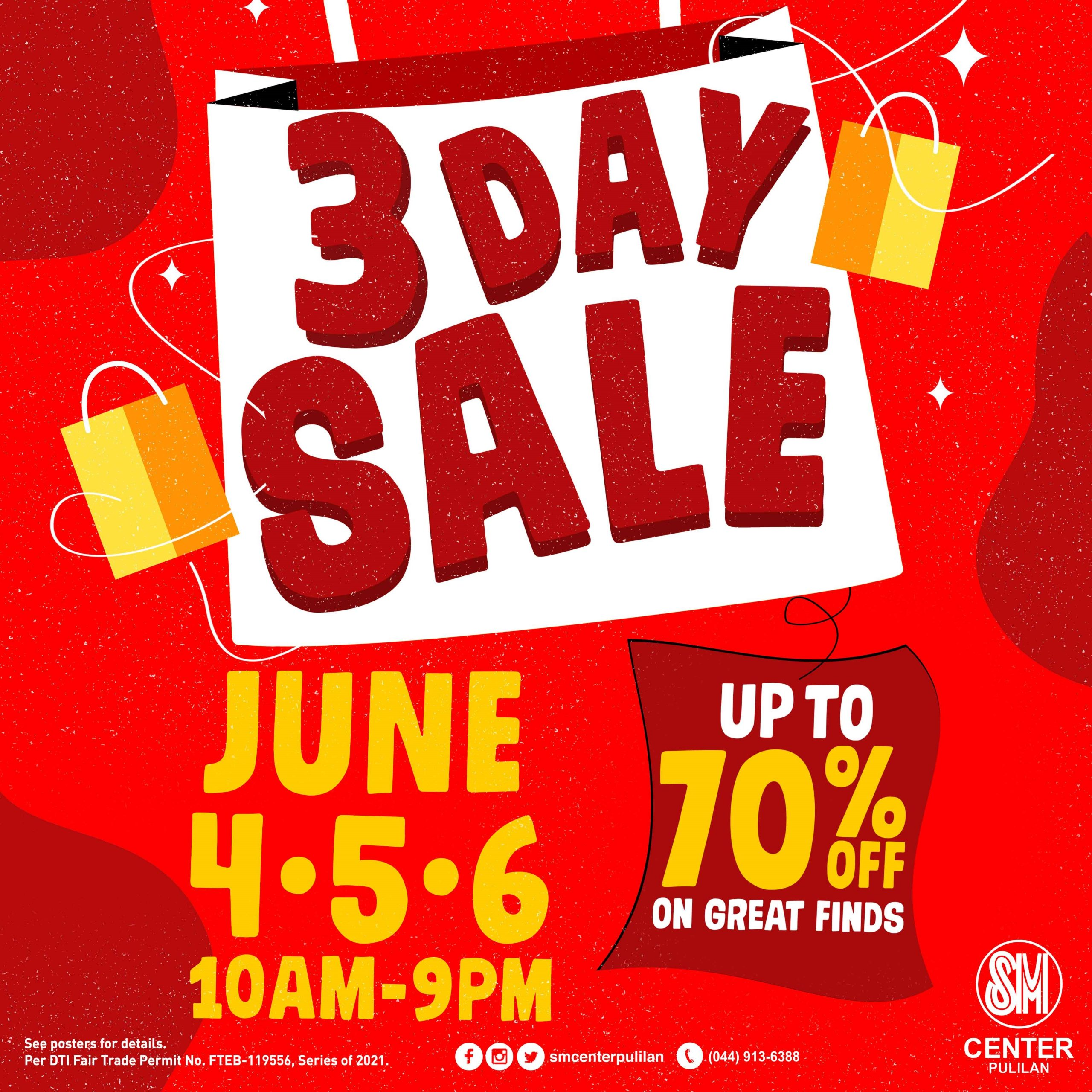 SM Center Pulilan officially welcomes June with a 3-day sale happening this June 4-6