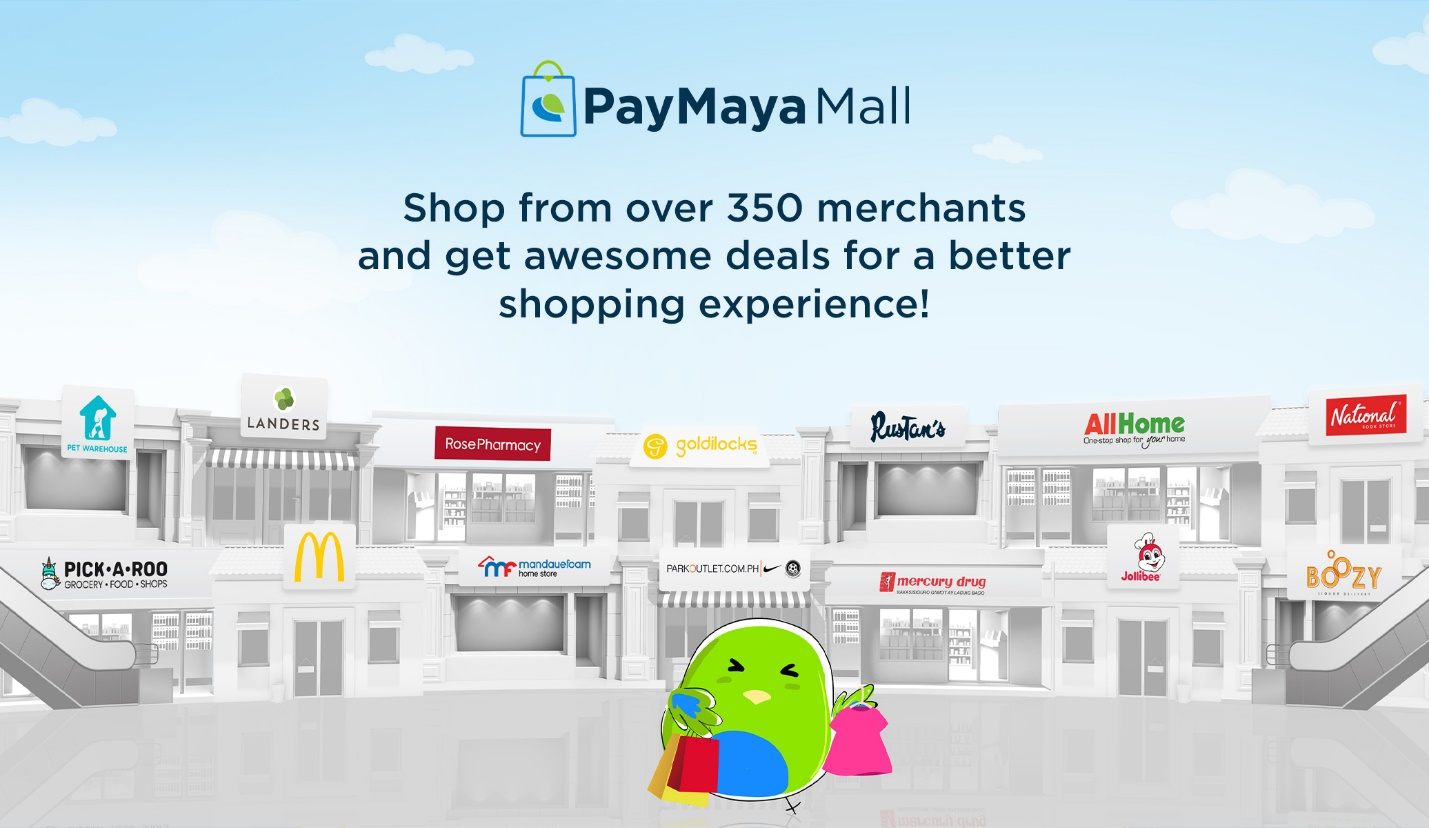 Over 350 trusted stores await online shoppers at PayMaya Mall