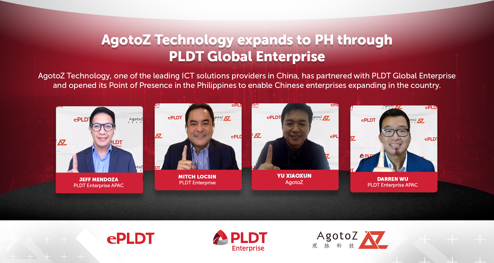 AgotoZ Technology expands to PH through PLDT Global Enterprise