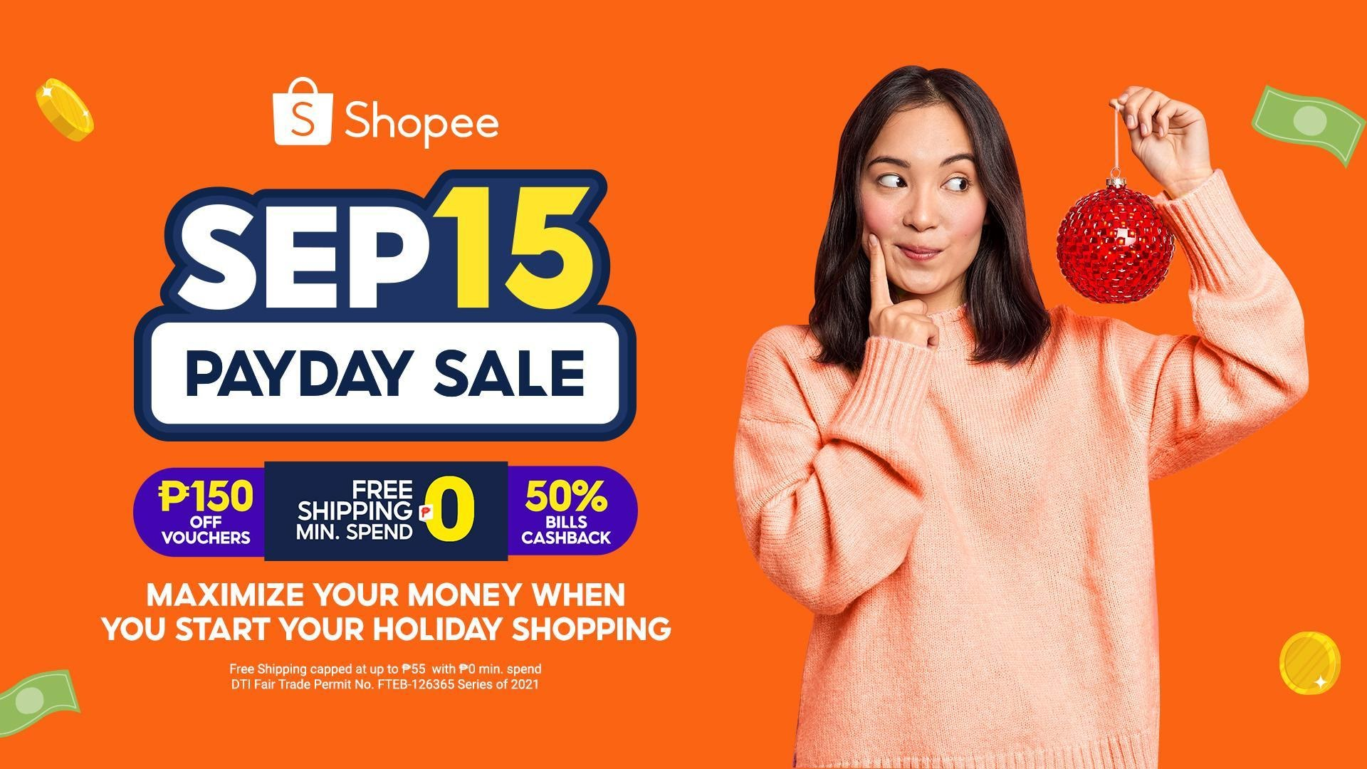 5 Easy ways to maximize your money when you start your holiday shopping at Shopee's 9.15 Payday Sale