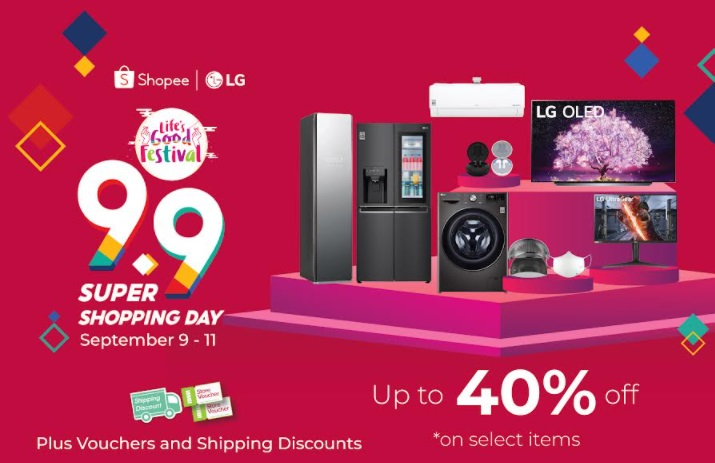 LG Electronics announces huge deals and discounts at the LG Official Flagship Store in ShopeeMall this 9.9